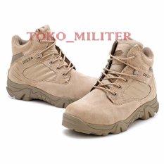 Spesifikasi Sepatu Delta Forces Tactical 6 Inch Outdoor Cream Bagus