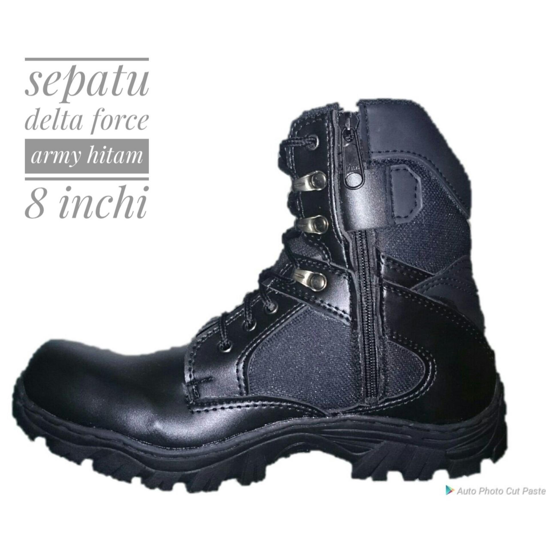 Sepatu Delta Hitam 8 inchi ad31a7a02d