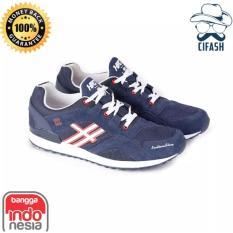 Sepatu Distro H 5255 Blue (Sepatu Casual Pria, Sepatu Handmade, Sepatu Bandung, Sepatu Cowok, Sneakers)