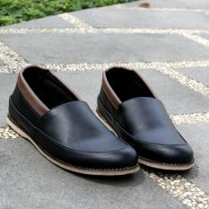 Sepatu Flat Shoes Slip-on Pria Modis Terbaru - JOEY FOOTWEAR COLE - Black