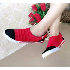 Spesifikasi Sepatu Flat Shoes Sneakers Red Terbaik