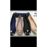 Jual Sepatu Flat Shoes Wanita Cewe Jelly Karet Tali Local Branded