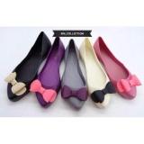 Diskon Sepatu Flat Shoes Wanita Cewe Karet Jelly Pita Ribbon Teplek Local Di Jawa Barat