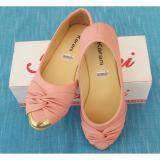 Harga Sepatu Wanita Flatshoes Warna Pink Hitam Kr039 Terbaru