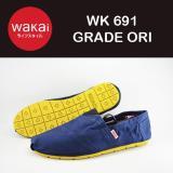 Jual Sepatu Flat Wakai 691 Warna Biru Sol Kuning Online