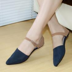 Diskon Sepatu Flatshoes Flat Shoes Gelangag10 Navy Nafiza Di Jawa Barat