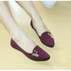 Berapa Harga Sepatu Flatshoes Wanita Sintetis Maroon Nfz 032 Di Jawa Barat
