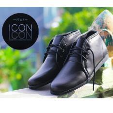 Sepatu Formal Branded Casual Pria Terbaru - ICON TAKA - Black