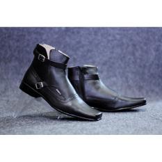 Sepatu formal kulit pria sepatu pantofel slip on loafers kerja casual handmade kickers cevany Bally