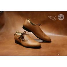 Jual Sepatu Formal Low Pria Pantofel Megan Original Chevany Tan Termurah