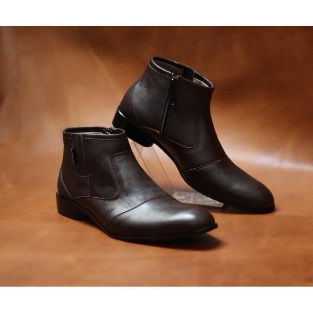 sepatu formal pantofel pria pantopel kantor dinas kulit asli warna hitam coklat dan tan