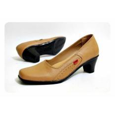 Harga Sepatu Formal Pantofel Women Full Kulit Tan Termurah