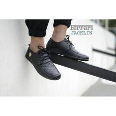 Sepatu Formal Pria Casual Bootss Sneakers Slip On Loafers Ferrari  Jacklin Casual Hitam