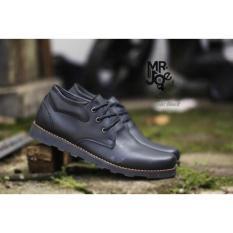 Sepatu Formal Pria Casual Sneakers Slip On Kulit Asli Handmade Bandung Mr Joe Cole Black