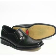 Sepatu Pantofel Pria Formal Merek Crocodile Sepatu Pantofel Pria Kerja Kantoran Bahan Kulit Sapi Asli 100%