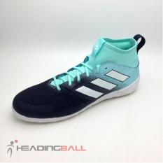 Sepatu Futsal Adidas Original Ace Tango 17.3 IN Black Lightblue CG3709