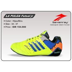 Sepatu Futsal Anak Sevenray La Pulga jr - Hijau/Biru