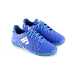 Sepatu Futsal Gaya Keren Bahan KULIT Biru (Sudah Di Sol) Putsal Garsel