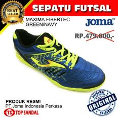Sepatu Futsal Joma Maxima 604 Fibertec Green - Navy