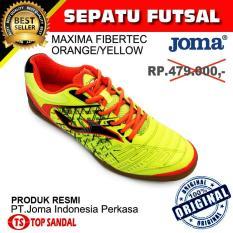 Sepatu Futsal Joma Maxima 611 Fibertec Yellow Orange