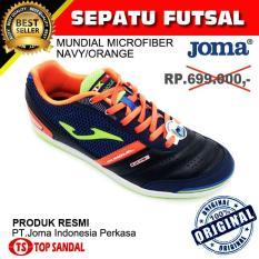 Sepatu Futsal Joma Mundial Microfiber 703 Navy - Orange