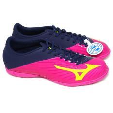 Sepatu Futsal MIZUNO BASARA Original PINK GLO NAVY