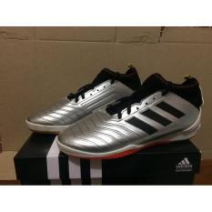 Sepatu futsal predator silver man branded component kualitas import