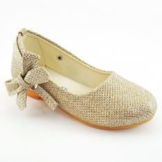 Kualitas Sepatu Gliter Anak Perempuan Gold Trend