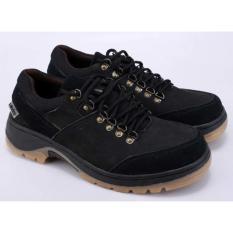 Sepatu Gunung Hiking Boots Pria Cowok Cowo Laki-Laki Hitam RRI 013 RZ