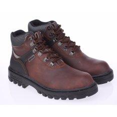 Sepatu Gunung / Hiking Safety Boots Pria Raindoz RLI 012 Coklat Kulit