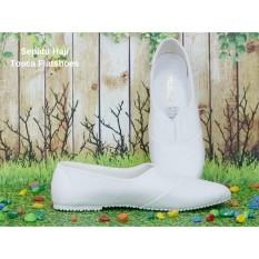 Sepatu Haji Umroh Tosca Flatshoes (SIZE 42) Sepatu Perlengkapan Haji Umroh Murah Flatshoes Putih Haji Umroh