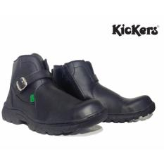 Toko Sepatu Handmade Bandung High Quality Kickers Gesper Resleting Black Lengkap