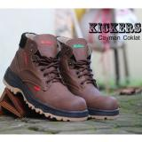 Jual Sepatu Handmade Bandung High Quality Kickers Safety Boots Collection T01 Cayman Coklat Handmade