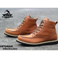 Sepatu HANDMADE Bandung High quality Wolf Kintanami - Tan 392f96abc0