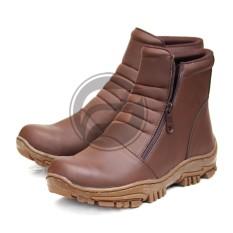 Sepatu Handmade - Elastico Work & Safety Boots Sepatu Pria Kerja Zipper Boots