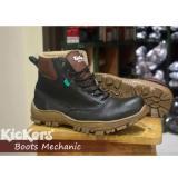 Beli Barang Sepatu Handmade Kickers Safety Ujung Plat Besi Online