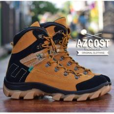 Sepatu Hiking Gunung Pria / Tracking Safety Boots Modern - AZCOST AVIATOR SAFTY - Abu-abu / Tan