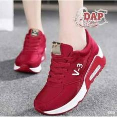 sepatu jalan wanita 3v merah