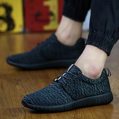 Model Sepatu Kasual Pria With I Pria Sepatu Dipotong Rendah Fashion Sepatu Semua Hitam International Terbaru