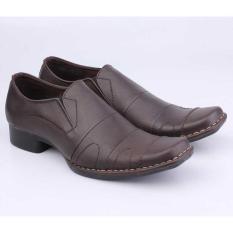 Sepatu Kerja Kantor Formal Pantofel Pria Cowok Cowo Coklat MP 141 CZ