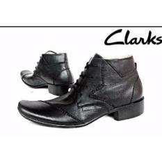 Sepatu Kerja Kantor Pria Clarks Pantofel Kulit