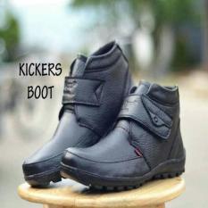 Sepatu Kerja-Kulit Kickers Prepet Original Leather Blark