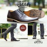Toko Sepatu Kerja Pantofel Formal Pria Kulit Asli Cocoes Marker Brown Cocoes Jawa Barat