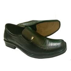 Sepatu Kerja Pantofel Versi Crocodile - Black