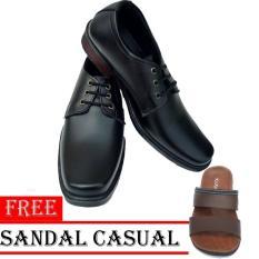 Rp 90.000. Sepatu Kerja Pria Kantor Pantofel Kulit Sintetis Model Tali Free Sandal ...