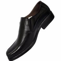 Harga Sepatu Kerja Kantor Pantopel Pria Kulit Asli Hitam Local Baru