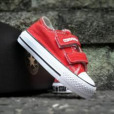 SEPATU KETS ANAK CONVERSE LOW RED SIDE WHITE