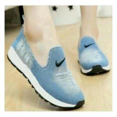 Promo Sepatu Kets Biru Muda Kanvas Wanita Sepatu Murah