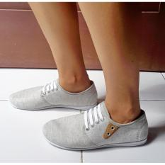 Beli Sepatu Kets Casual Kanvas Abu Murah Banten