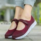 Sepatu Kets Casual Wanita Sm Marun Indonesia Diskon